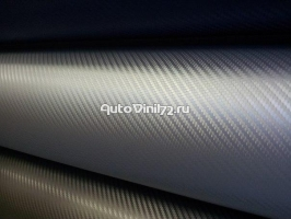 3D карбон Серебристый